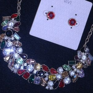 "Multi-color gems 18-22"" Necklace"